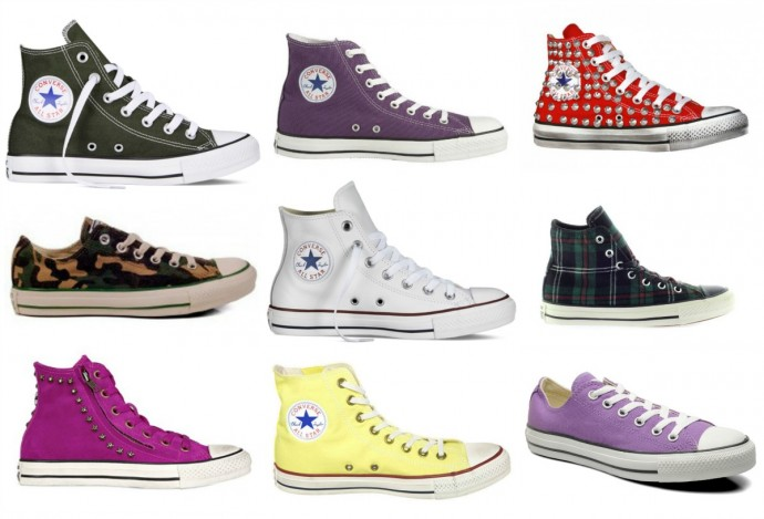 converse gialle fluo all star