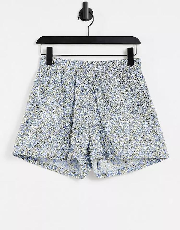 Shorts con stampa a fiori Envii