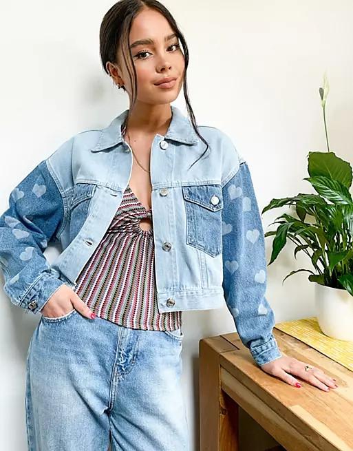 Giacca di jeans oversize Minga London