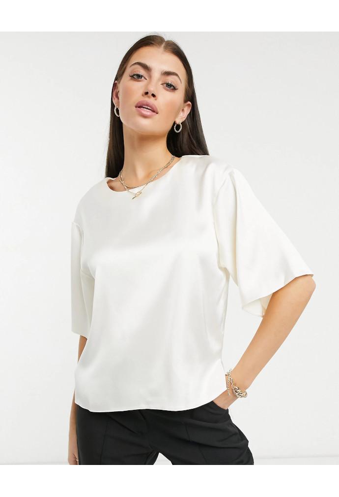 T-shirt in raso ASOS DESIGN