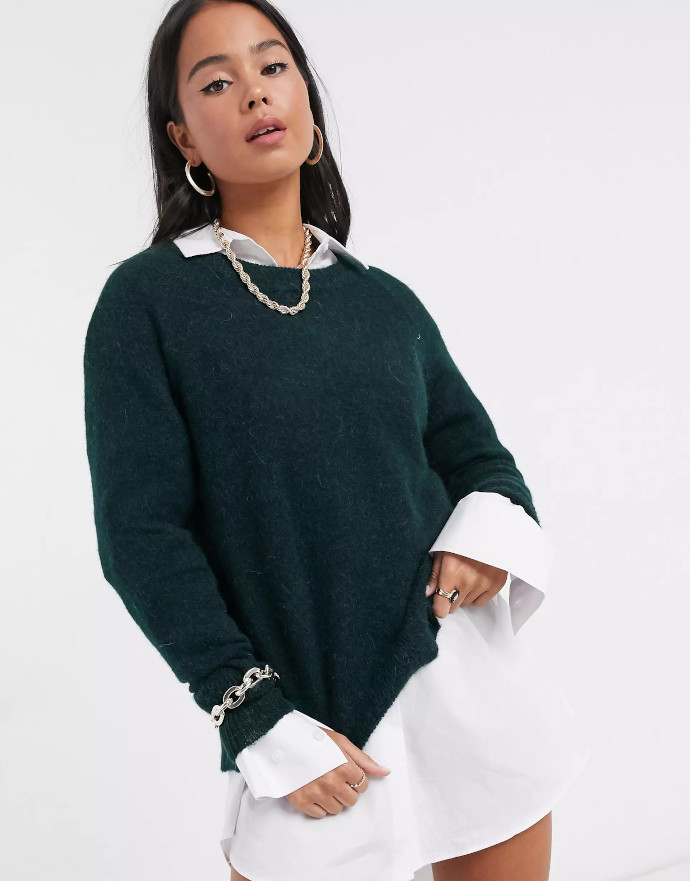 Pullover in maglia spazzolata Selected Femme