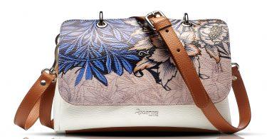 File Bag con stampa di fiori by Regenesi