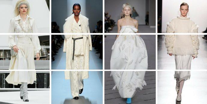 be7eed13f580 Tendenze moda autunno inverno 2017-18  bianco d inverno. da Silvia Camilleri