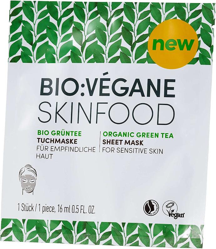 Maschera di Tessuto al Tè Verde Bio di Bio:Végane