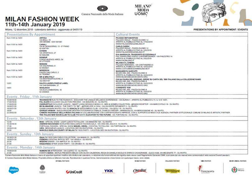 Milano Moda Uomo AI 2019/2010