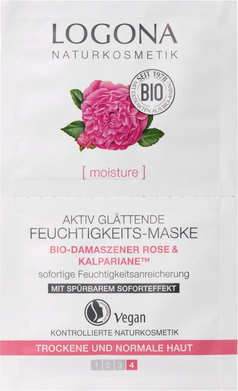 Maschera Levigante Attiva Bio Rose & Alghe di Logona