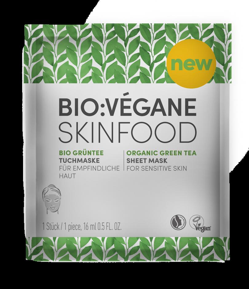 Maschera di Tessuto al Tè Verde Bio di Bio Végane