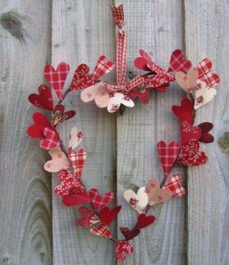 Ghirlanda shabby chic per San Valentino - fonte Pinterest