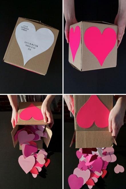 Una scatola piena di pensieri per San Valentino - fonte Pinterest