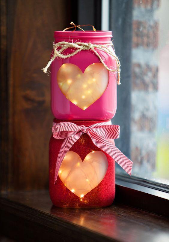 Lanterne con led San Valentino - fonte Pinterest