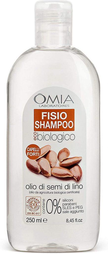 Shampoo ai semi di lino per capelli secchi e crespi Omia Laboratoires