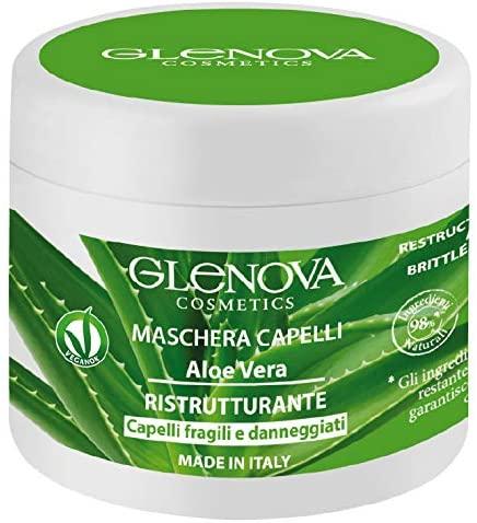 Glenova Maschera Capelli Ristrutturante Aloe Vera & Muschio Bianco