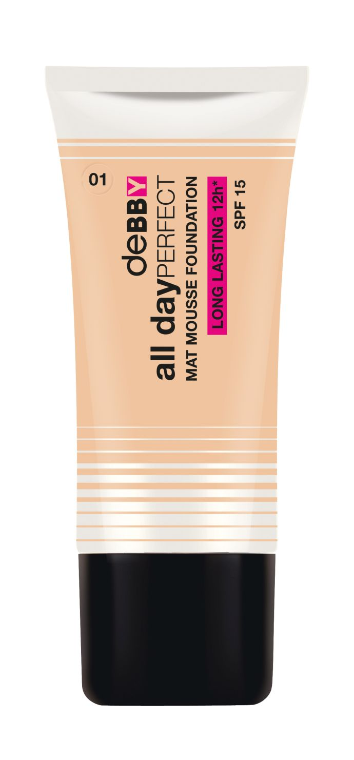 deBBY All dayPERFECT Mat Mousse Foundation in Ivory