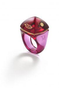 Pop Ring color peonia Baccarat Bijoux