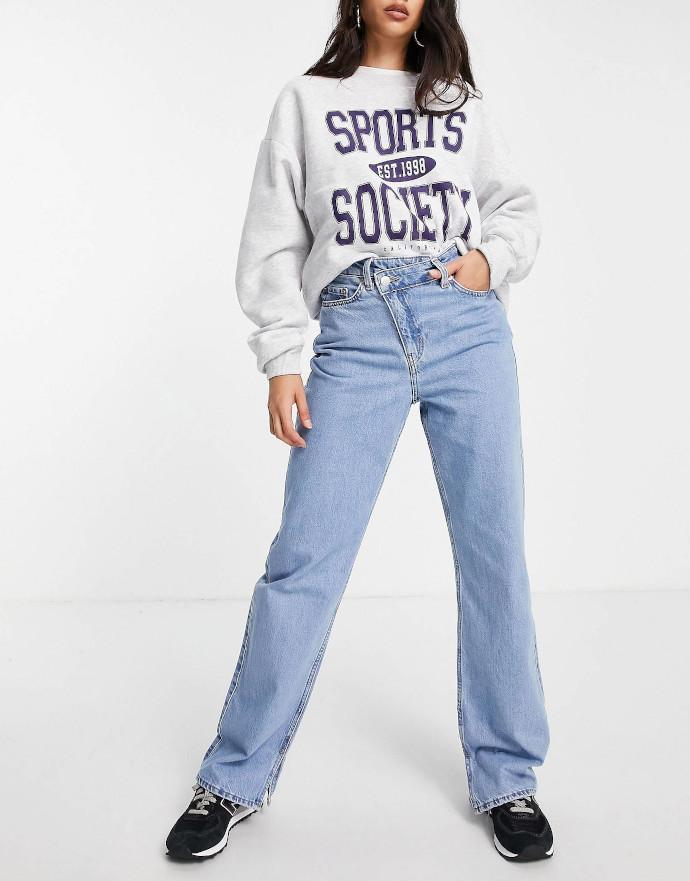 Jeans dritti a vita medio alta Weekday