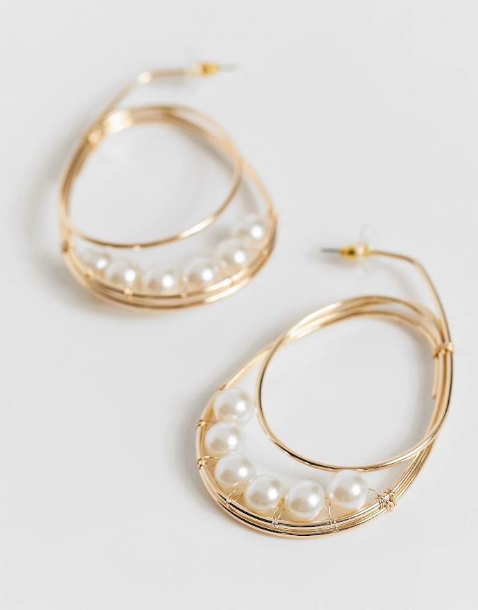 Orecchini con perle Asos Design