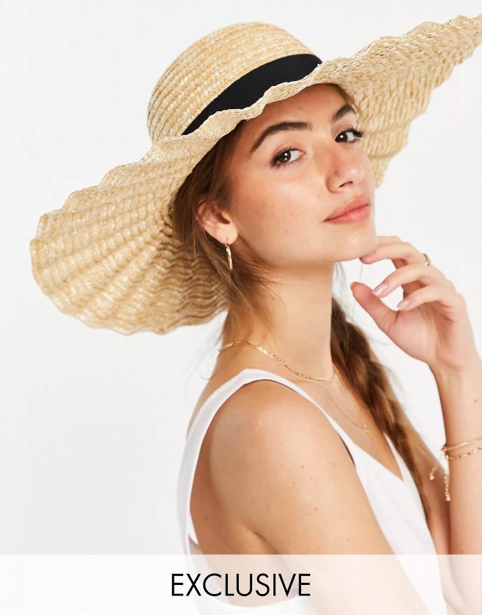 Cappello in paglia naturale South Beach