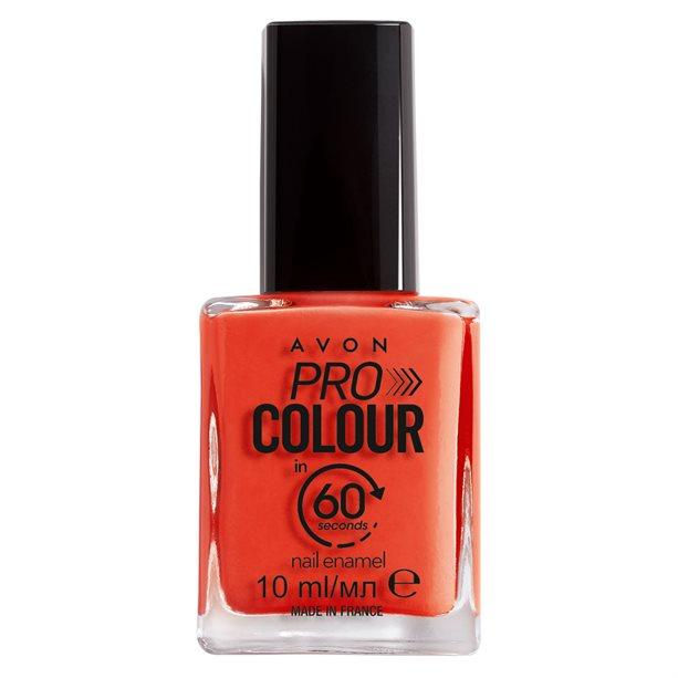 Avon Pro Colour Smalto per unghie in 60 secondi Rosso corallo