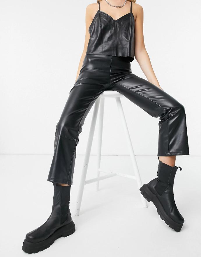 Pantaloni in ecopelle Pieces