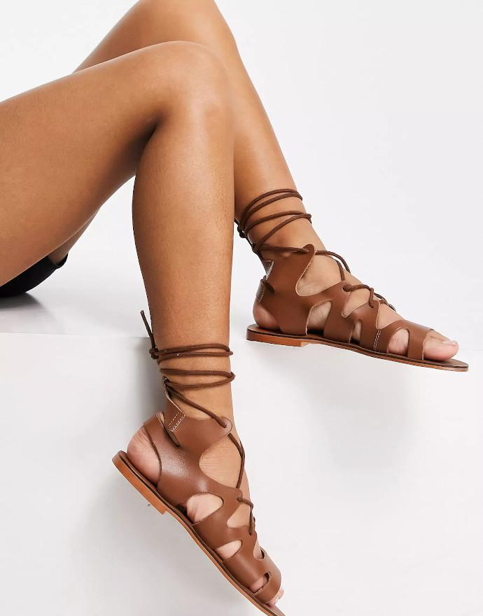 Sandali con laccetti ASRA