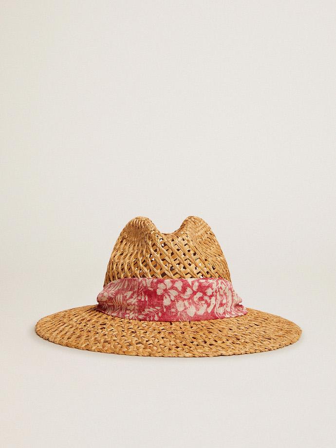 Cappello in paglia intrecciata Golden