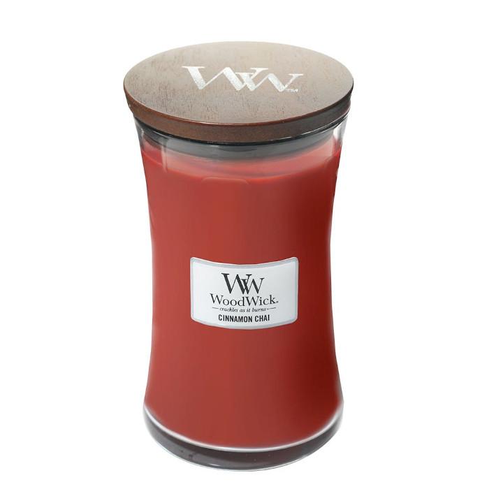 Woodwick Candela profumata Cinnamon Chai